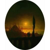 Moonlit night beside the sea 1847