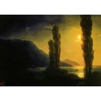 Moonlit night near yalta 1863