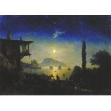 Moonlit night on the crimea gurzuf 1839
