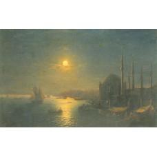 Moonlit view of the bosphorus 1884