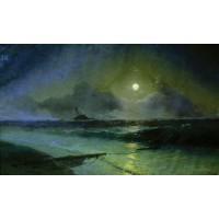 Moonrise in feodosia 1892