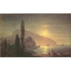 Night at crimea view on ayu dag 1859
