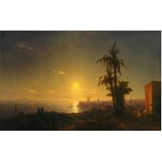 Night at the rodos island 1850
