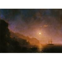 Night in amalfi 1854