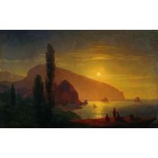 Night in the crimea view of ayu dag 1850