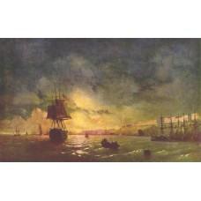 Odessa at night 1846