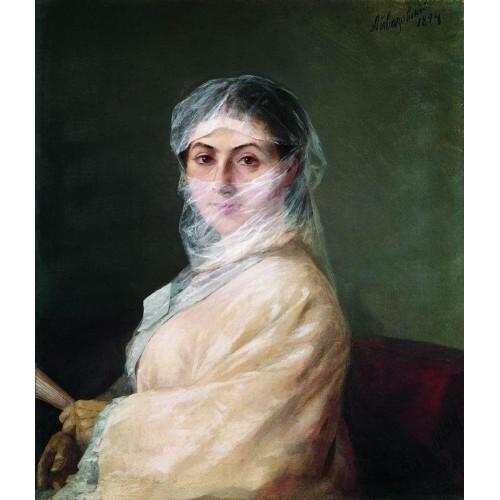 Portrait of the artist s wife anna burnazyan 1882