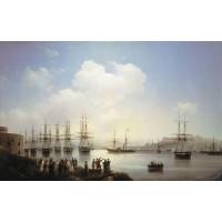 Russian squadron on the raid of sevastopol 1846