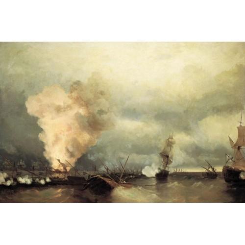 Sea battle near vyborg 1846