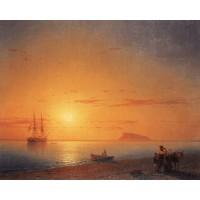 Sea coast farewell 1868