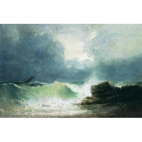 Sea coast wave 1880
