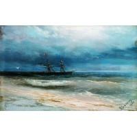 Sea with a ship 1884