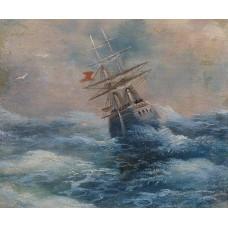 Sea with a ship