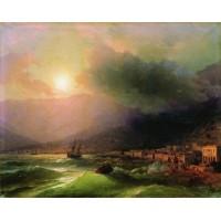 Seaside city view of yalta 1866
