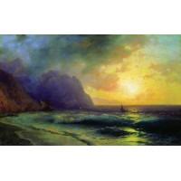 Sunset at sea 1853