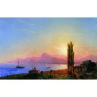 Sunset at sea 1856