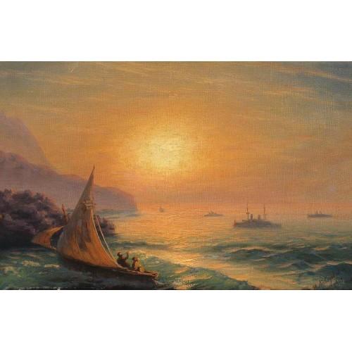 Sunset at sea 1899