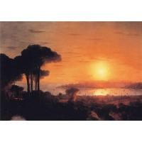 Sunset over the golden horn 1866