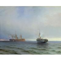The capture of turkish nave on black sea 1877