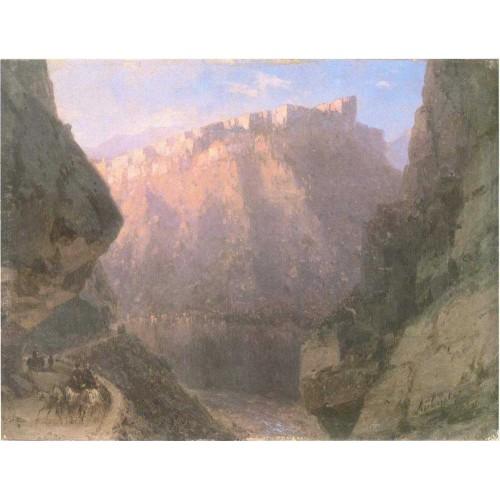 The daryal canyon 1855