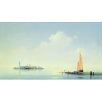 The harbour of venice the island of san georgio 1844