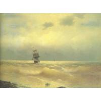 The ship near coast 1890