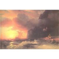 The shipwreck near mountain of aphon 1856