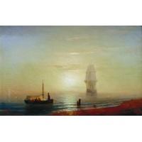 The sunset on sea 1848