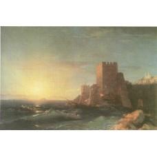 Towers on the rock near bosporus 1853