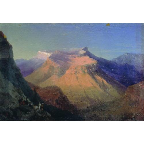 View of gunib 1868