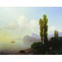 View of sudak bay 1879