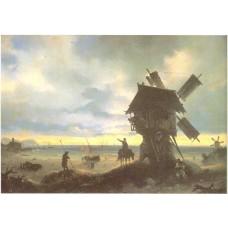 Windmill on the sea coast 1837