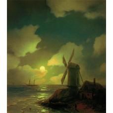 Windmill on the sea coast 1851