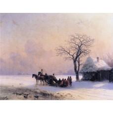 Winter scene in little russia 1868