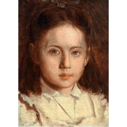 Portrait of Sonya Kramskaya the Artist's Daughter