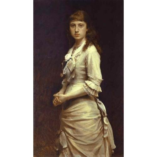 Portrait of Sophia Kramskaya the Artist's Daughter