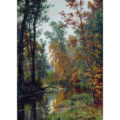 Autumn landscape park in pavlovsk 1888