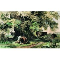 Cows under the oak 1863