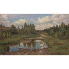 Forest landscape road 1876