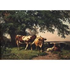 Herd under the trees 1864