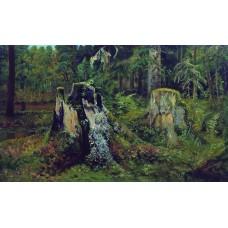 Landscape with stump 1892