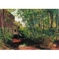 Mill in the forest preobrazhenskoe 1897