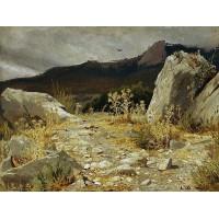 Mountain path crimea 1879