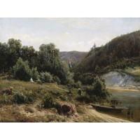 Near the monastery 1870