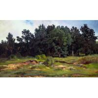 Oak grove in a gray day 1873