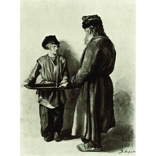 Peasant and peddler 1855