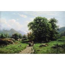 Swiss landscape 1866