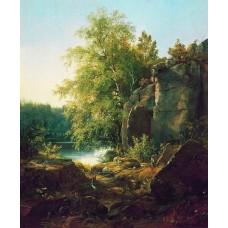 View of valaam island 1858