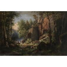View of valaam island kukko 1860