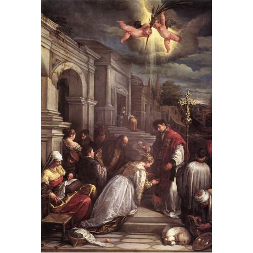 St Valentine Baptizing St Lucilla